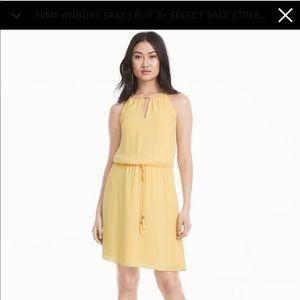 WHBM Yellow Blousan Dress